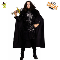 New Arrival Men's Cosplay Jon Snow Costume Play the Game Cosplay Black the King of North Fancy Dress Halloween Party