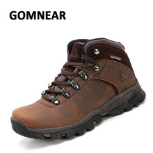 GOMNEAR Big Size Waterproof Hiking Shoes Men's Wear-resistant Antiskid Sneakers Breathable Mountaineering Climbing Sports Boots
