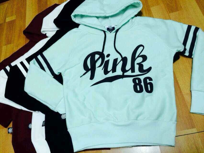 2017 Autumn winter New Girl ladies Long Sleeve love pink 86 Letter ...