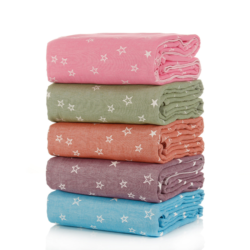 ФОТО 1 piece Stars Dove Print 100% Cotton Blanket For Adults Women Children Rectangle 150x200cm In Bedroom Factory Direct