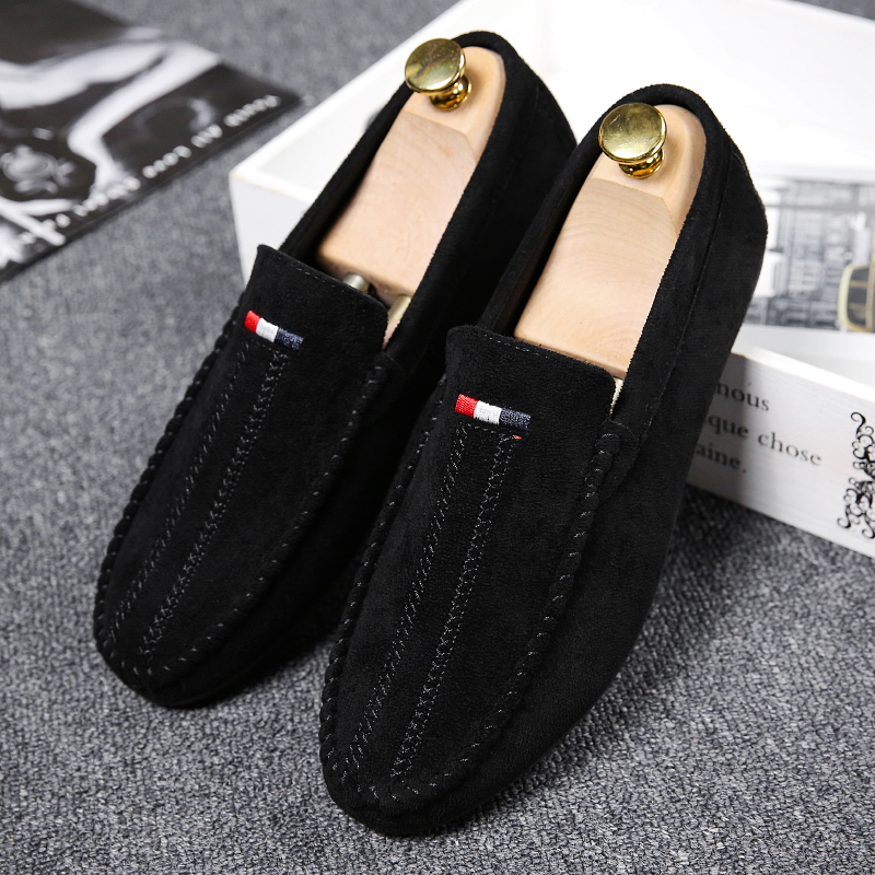 Casual Hommes Chaussures Appartements Nouveau Mode Troupeau Mocassins 2018 Zapatos Respirant Printemps Hombre red khaki Mâle Automne Black Doux BFqEIxqw