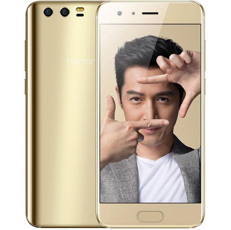 Оригинальный huawei Honor 9 глобальной прошивки 4G RAM 64g ROM 4G LTE Мобильного Телефона Octa Core 5,15 дюймов 1920*1080 сканер отпечатков пальцев NFC