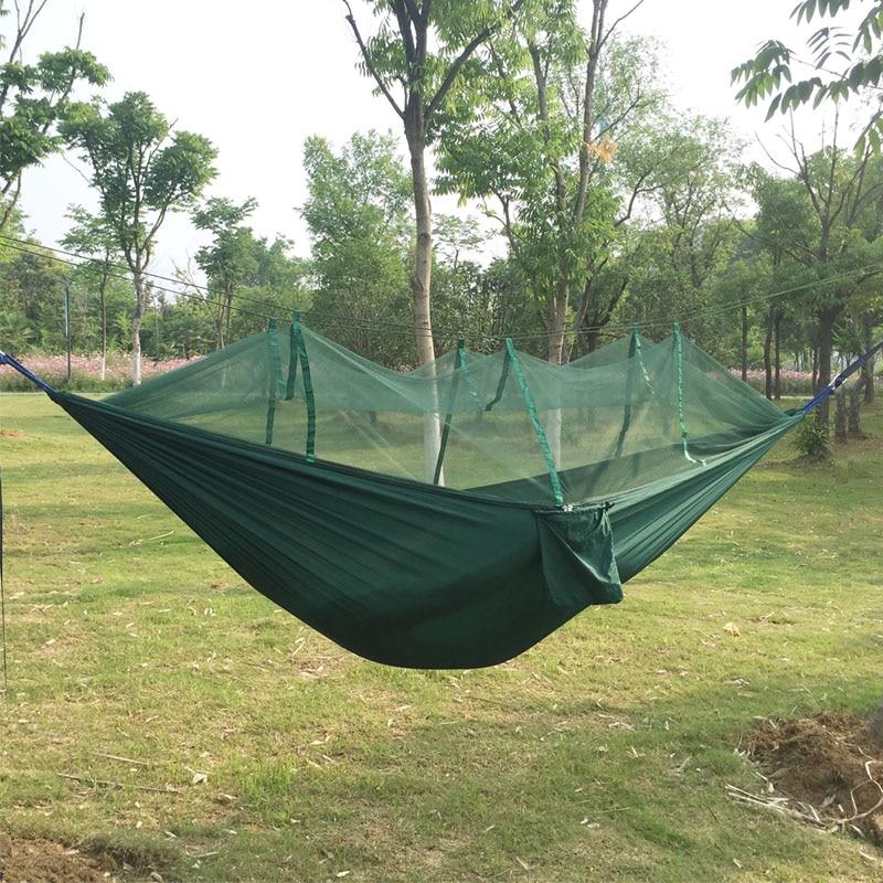 2017 Portabel Anti-nyamuk Gigitan Kain Parasut Hammock Kelambu untuk - Mebel - Foto 4