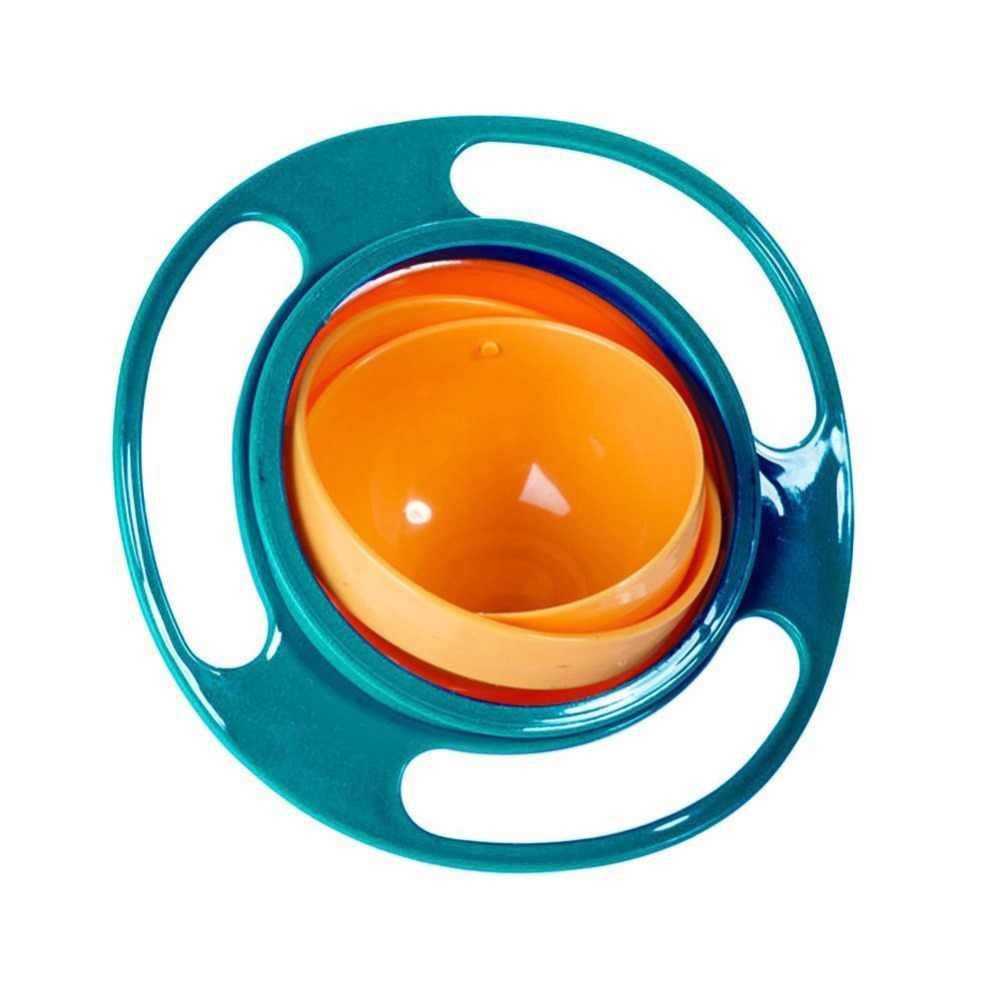 360 Вращающаяся непроливающаяся пластиковая чаша для детей, обучающая игрушка для кормления, посуда, обучающая подача, не разливается, не месится, чаша, подарок