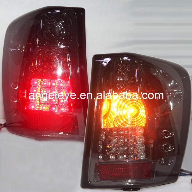 Для джип Гранд Чероки 1999-2004 года светодиодные задние лампы с Галогеновыми turnning свет дым черная ЗП