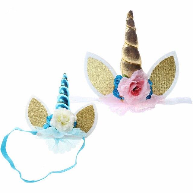 פופולרי צעצועי יפה אלסטי פרח תחרה Unicorn צופר קישוט בנות דקורטיבית קישוט ליל כל הקדושים תלבושות בפלאש צעצוע