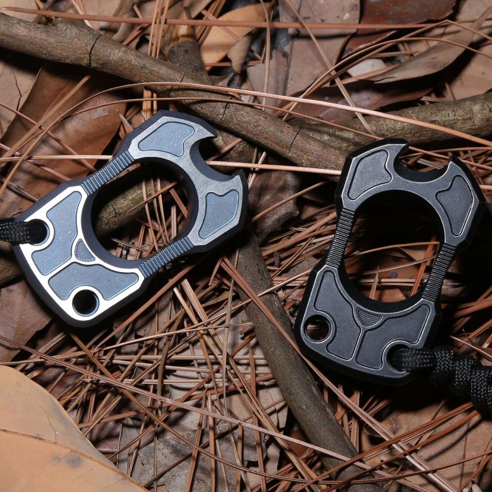 DICORIA Bullfight single finger ring TC4 Titanium Self Defense punch daggers outdoor Buckle Survival pocket EDC