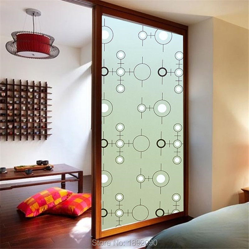 Best of Wide 60cm Long 200cm Frosted Opaque Glass Window Privacy Adhesive Glass Stickers Home Decor Lattice Circle White Toilet in Decorative s from Home New Design - Simple Elegant frosted interior door Minimalist