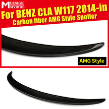 купить For Mercedes Benz W117 CLA180 CLA200 CLA250 AEAMG Style Carbon Fiber Rear Trunk Spoiler Tail Wing car styling Accessories 14-in в интернет-магазине