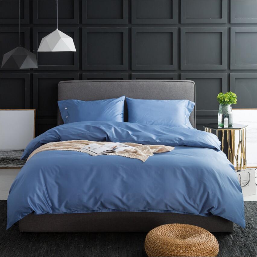 Ev ve Bahçe'ten Yatak Takımları'de Koyu renk yatak setleri Lüks Mısır pamuk nevresim Kral kraliçe 4 Adet Yatak Örtüsü yatak çarşafı Keten Yastık Kılıfı'da  Grup 3