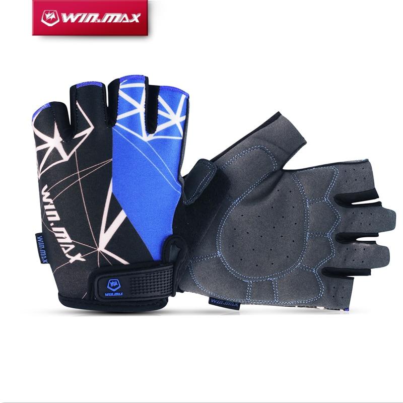 Winmax 3 Colores Corto gimnasio Ciclismo Guantes Medio Dedo de la Alta Calidad d