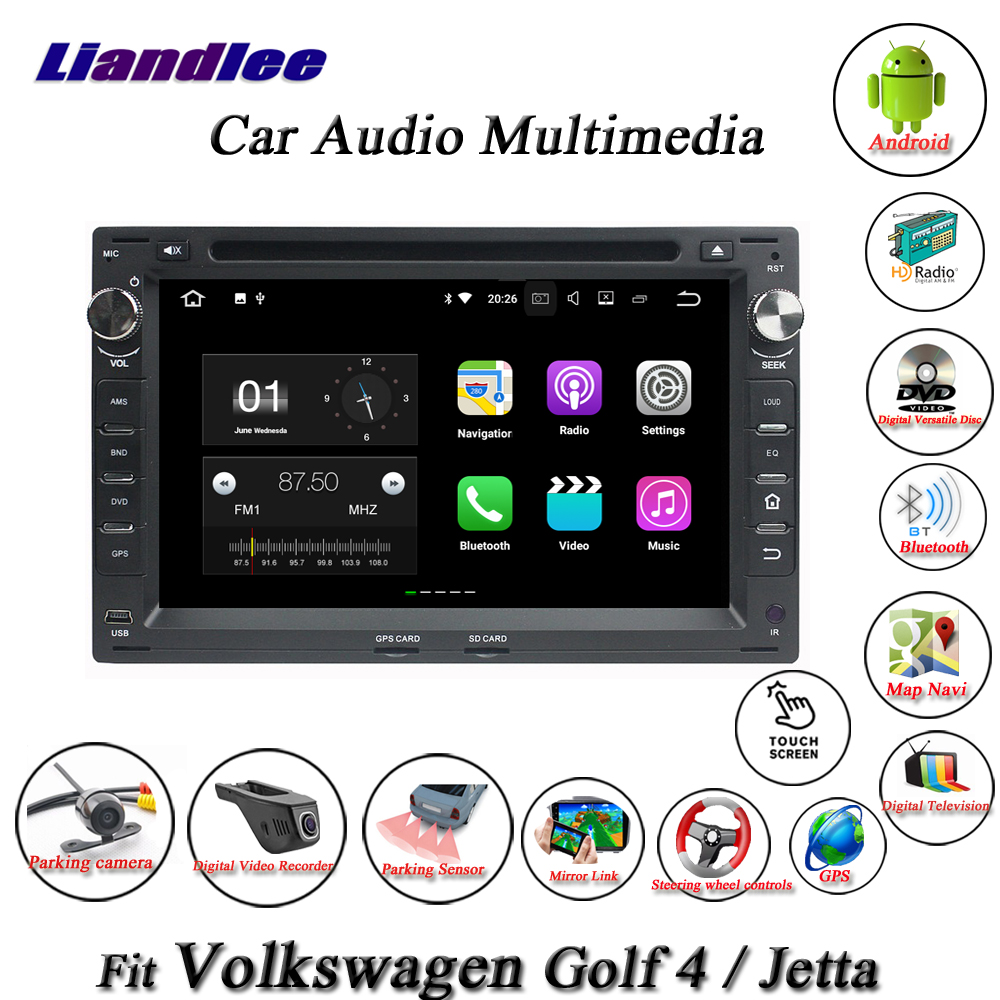 Liandlee Car Android System For Volkswagen VW Golf 4 / Jetta Radio CD DVD Player GPS Nav Navi Navigation TV HD Screen Multimedia
