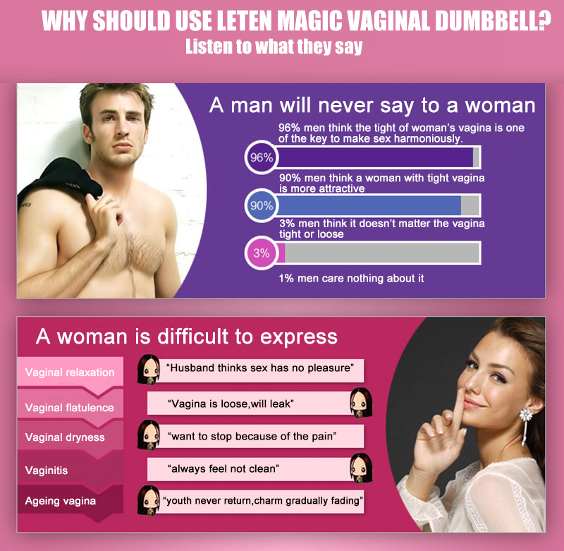 Magic Vaginal Dumbbell Leten Sex Toys Wanita