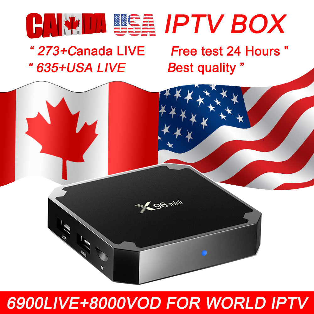 x96 mini android tv box 7.1 for smart tv 1 year Canada USA iptv 6900 live 8000 vod best for Spain dutch French iptv free test-in Set-top Boxes from Consumer Electronics    1