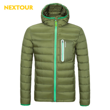 NEXTOUR Winter Down Coat Men Solid color White Duck Down  Jacket  Light Hiking Camping Climbing Leisure Cycling own storage bag