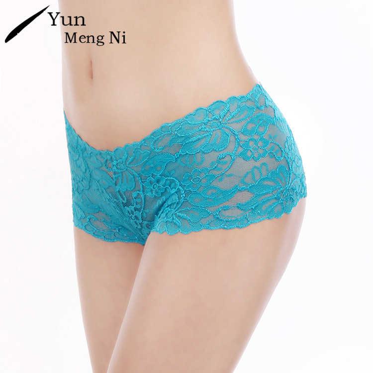 Yunเม้งNiเซ็กซี่ผู้หญิงกางเกงพลัสขนาดXXL GสตริงThoneกางเกงลูกไม้กางเกงชุดชั้นในหญิงนักมวยBoyshorts B Ragas 86950