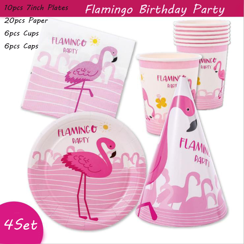Omilut Flamingo Balloon Set Flamingo Birthday Decor Cartoon Flamingo Party Kids Baby Shower Girl Supplies Wedding Decor in Disposable Party Tableware from Home Garden