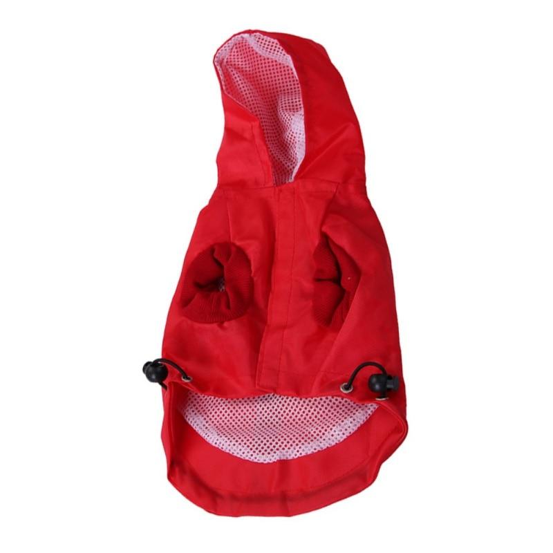 Solid Color Waterproof Dog Raincoat Summer Rain Leisure Lightweight Durable Dog Coat Jacket Pet Dog Accessories