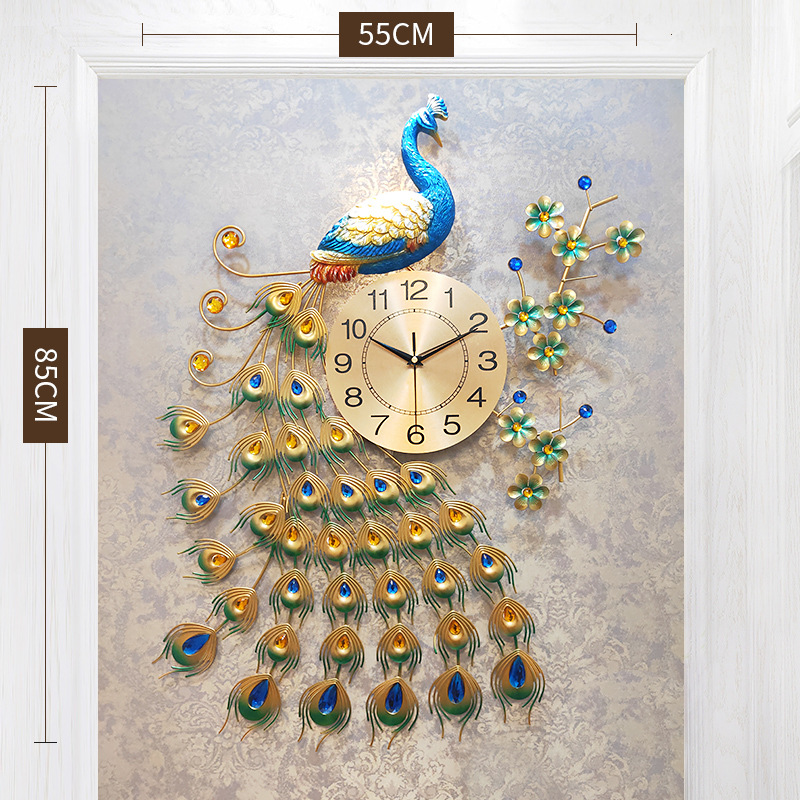 Living Room Wall Clock Modern Design Home Decor Wall Watch Creative Bedroom Silent Clock Wall Metal Digital Large Wall Clocks