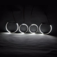 RGBW Angel Eyes Quay Vòng Lights DRL LED Cán Ánh Sáng Đa Màu Điều Khiển Không Dây RF Cho BMW E60 E61 E87