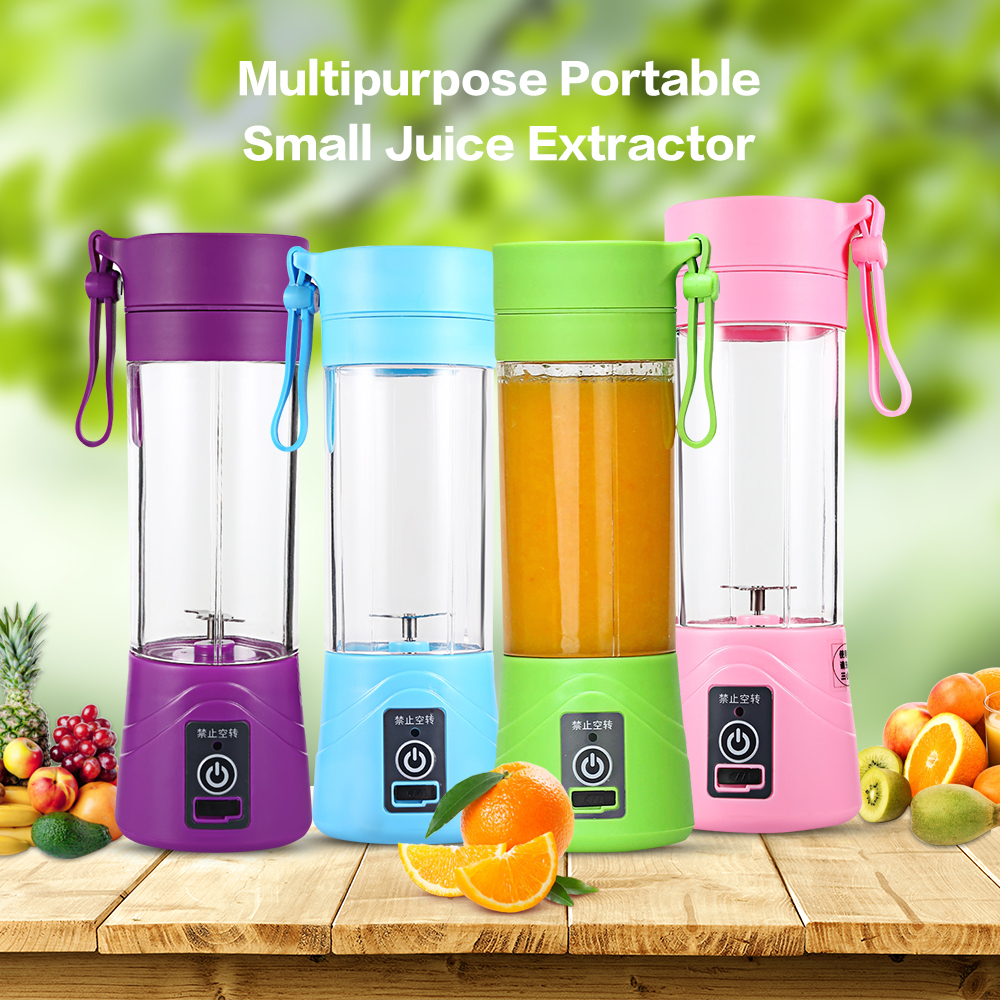 2019 Fashion Multipurpose Electric Juicer Fruit Extractor Portable Hand Maker Blender Usb Charging Mini Juice Squezers Water Bottle Drinkware Beneficial To The Sperm