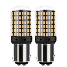 2 adet 1157 P21/5W BAY15D Canbus süper parlak 2000Lm LED hayır Hyper flaş otomatik dönüş sinyal lambası araba fren ampul gündüz çalışan işık