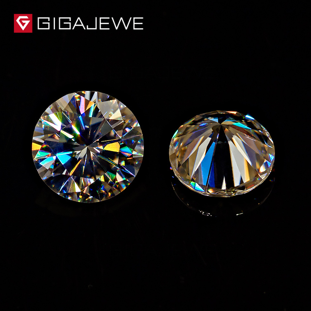 GIGAJEWE Yellowish Color 5mm 6mm  7mm 8.0mm  Fashional Stone Beads Round Shape Moissanites Stone For Jewelry Making