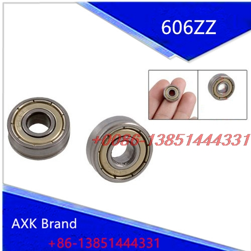 AXK 10 Pcs 17mm x 6mm x 6mm Single Row Shielded Deep Groove Ball Bearing 606ZZ single row 8mm x 16mm x 5mm deep groove ball bearing for electric hammer 26