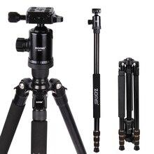 Профессиональный фотографический Компактный алюминиевый штатив Zomei Z668 для путешествий, тяжелый стабильный штатив монопод с шаровой головкой для цифровой DSLR камеры
