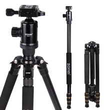Zomei Z688 Professional Photographic Travel Compact Aluminum Heavy Stable Tripod Monopod Ball Head for Digital DSLR Camera(China)