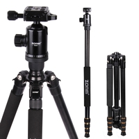 Zomei Z688 Q666 Professional Photographic Travel Compact Aluminum Heavy Stable Tripod Monopod Ball Head For Digital
