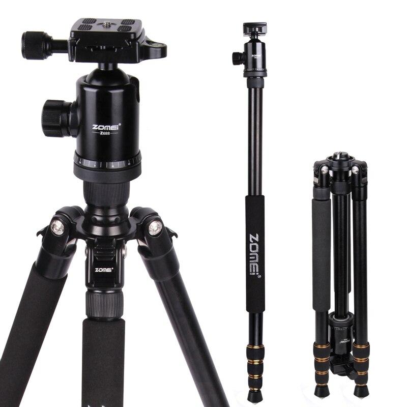 Zomei Z688 profesional de viaje fotográfico compacto de aluminio pesado trípode estable Monopod cabeza de bola para cámara Digital DSLR