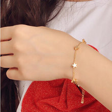 1 Pcs Sell Heart Stars ID Bracelets Trendy Gold Silver Color New Geometric Adjustable Bangles For Women Fashion Jewelry Gift(China)