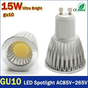 GU10 CREE Dimmable LED 9 Вт/12 Вт/15 Вт Высокая мощность COB прожектор 85-265 в теплый/холодный белый заменить 30 Вт/50 Вт/70 Вт галогенная лампа