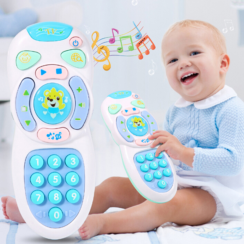 Music Mobile Phone TV Remote Control Early Educational Toys Electric Learning Machine Baby Toys Gifts