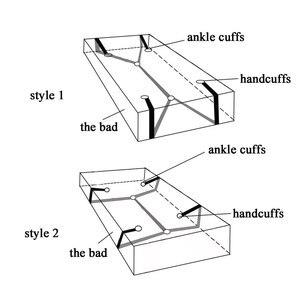 Image 5 - ナイロン手錠緊縛ボンデージエロ下ベッド緊縛ボンデージ拘束ストラップ系の大人のおもちゃ大人のための手首 & 足首袖口
