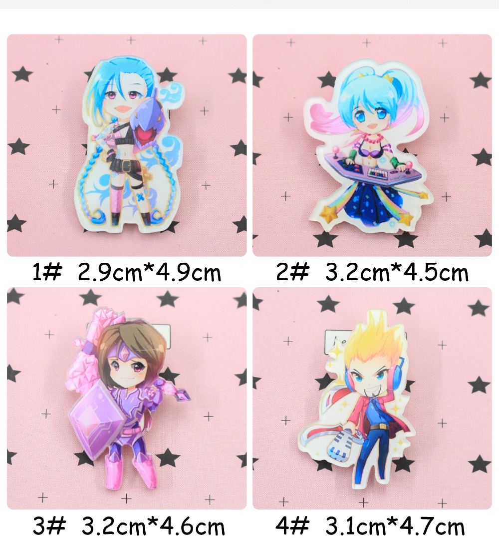 Jl 1pcs Mix Lol Girl Cartoon Icons On The Pin Kawaii Icon Badge Bacges On Backpack Badges For Clothing Acrylic Badges Z25 Arts,crafts & Sewing