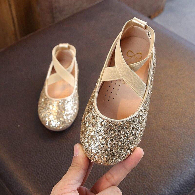 Girls Sparkly Glitter Ballet Flats 5