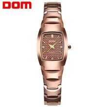DOM Fashion Watch Women Brand Luxury Women Watches Tungsten Steel Waterproof Quartz feminino Ladies  free shipping W-327CK-5M