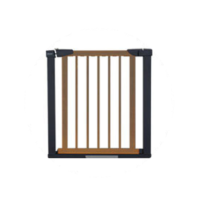 75 to 84 cm Wooden Baby Gate for Stairs with 5cm Thick Steel Frame for Child Security 2