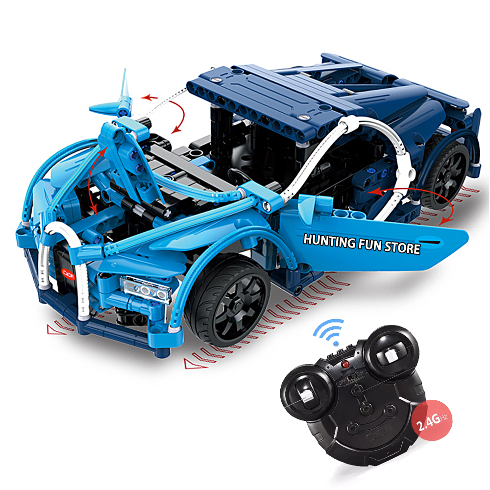 New Fit Legoness Technic Series Rc Bugatti Chiron Sports Car Remote Control 419pcs Building Blocks Diy Toys For Children Gifts
