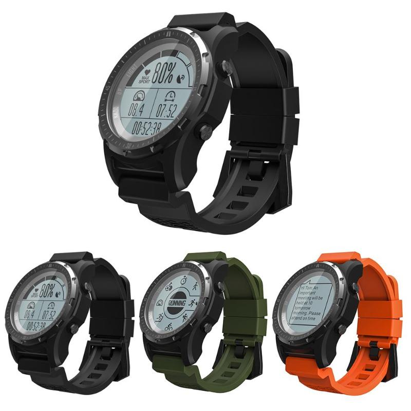ALLOYSEED S966 Bluetooth GPS Smart Watch IP68 Waterproof Sport Smartwatch Heart Rate Monitor Compass Thermometer Altimeter szmdc s929 gps sport ip68 waterproof swimming smart watch heart rate monitor thermometer altimeter color screen smartwatch