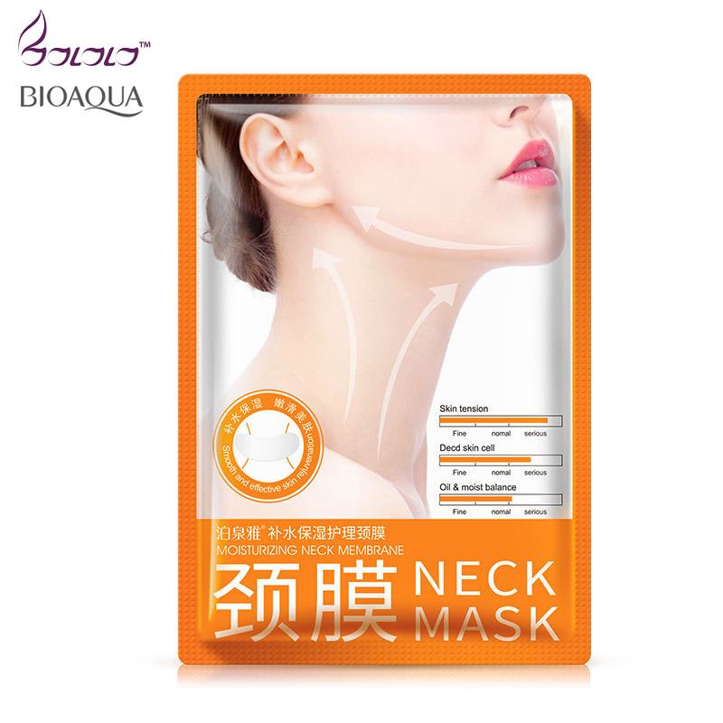 Bioaqua Neck Mask Anti wrinkle Whitening Moisturizing Nourishing Firming Neck Care Women beauty health whey protein Skin Care