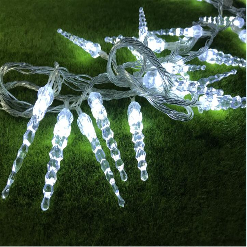 Holiday Lighting <font><b>10M</b></font> <font><b>100LED</b></font> Icicle Home Xmas Decoration Christmas <font><b>Lights</b></font> Outdoor Waterproof Fairy Curtain String <font><b>Lights</b></font> image