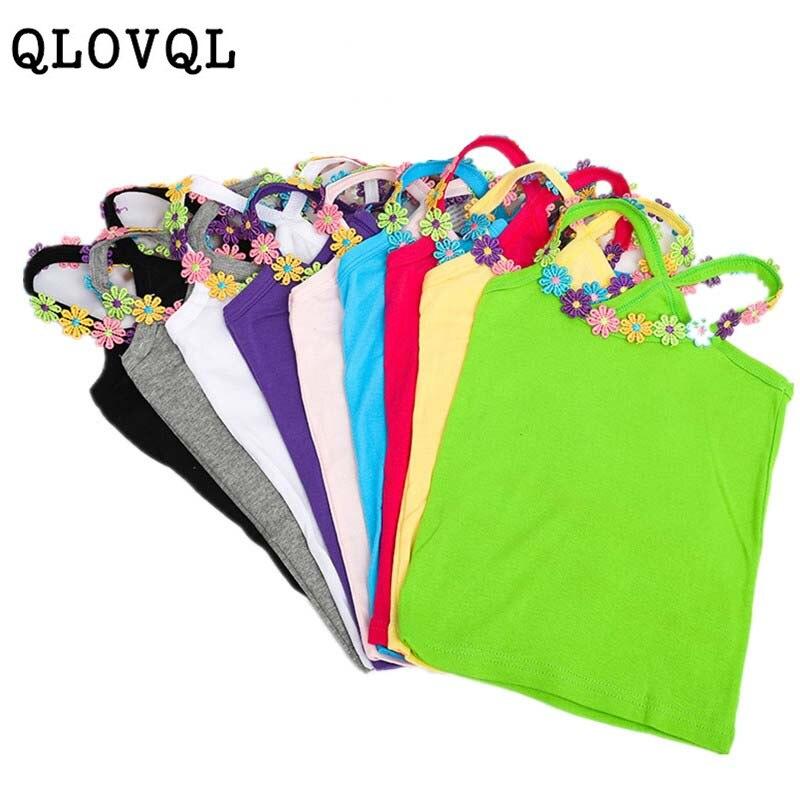 Summer Girl T Shirt Cotton  Flower Applique T Shirt For Girl Tops Tees Kids Baby T-shirt Cotton Clothes Tops