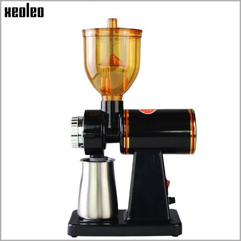 Xeoleo Electric Coffee grinder Coffee mill machine Espresso machine 8 Steps Anti-jump 60mm Flat Wheel Burr grinder