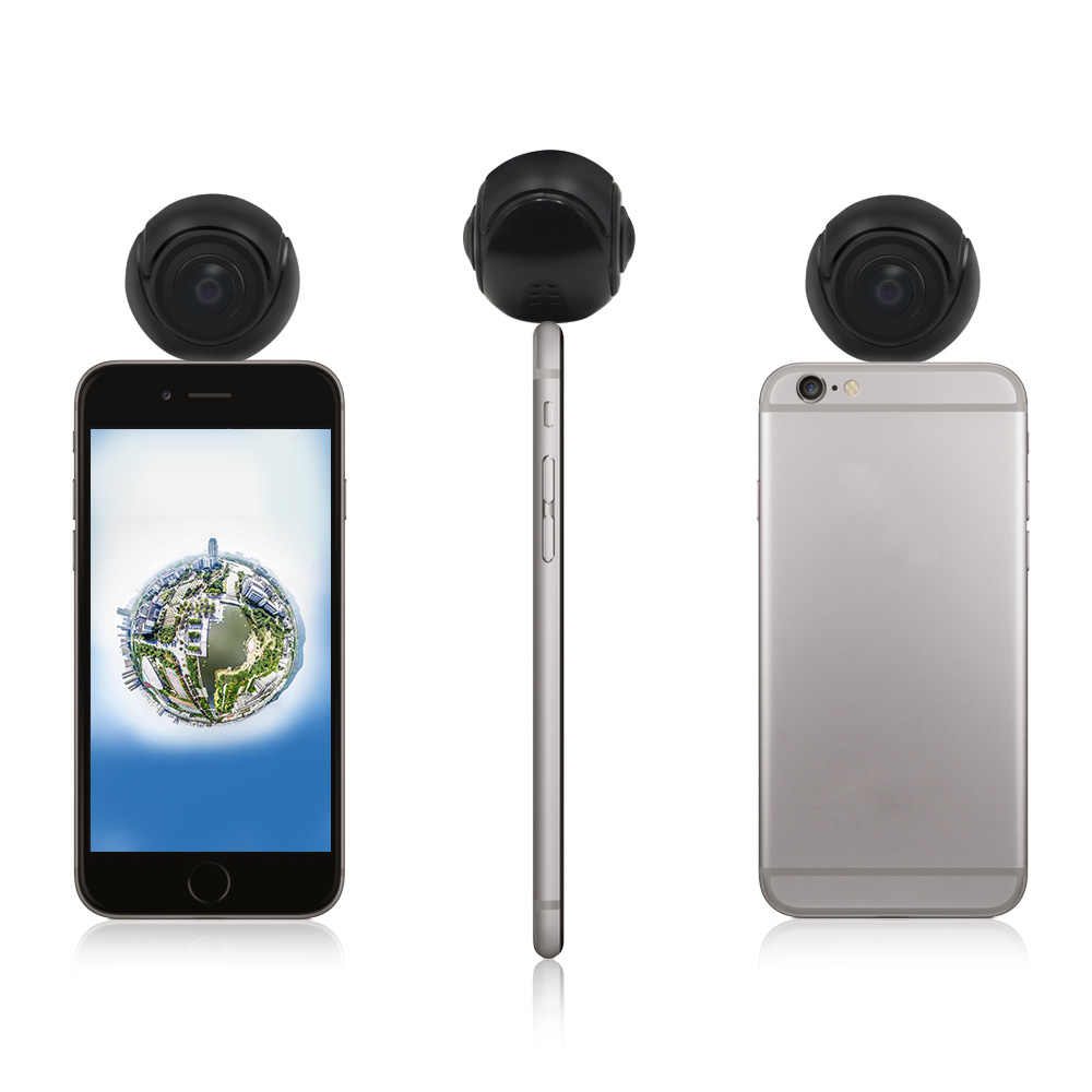 VR 360 Camera HD Video Panoramic View 180 degree Wide Angle Dual Fisheye  Lens Panorama 360 Camera For Android Smartphone