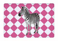 Floor Mat Pink Grid Stripe Lovely Zebra Print Non-slip Rugs Carpets alfombra For Indoor Outdoor living kids room