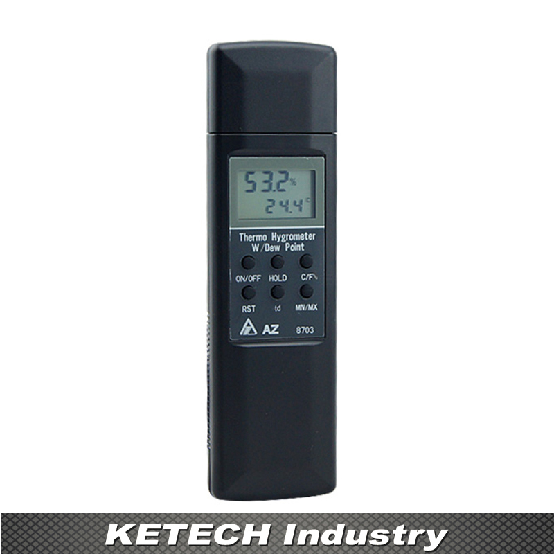 AZ-8703 Professional Pocket Digital Hygro-thermometer Hygrometer Temp Humidity Tester Meter -20-50 Degree 0%-100%RH digital indoor air quality carbon dioxide meter temperature rh humidity twa stel display 99 points made in taiwan co2 monitor