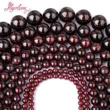 2-10 мм круглый красный гранат Spacer Свободные Бусины kralen Perles натуральный Камни для изготовления ювелирных изделий Strand 15″ бесплатная доставка